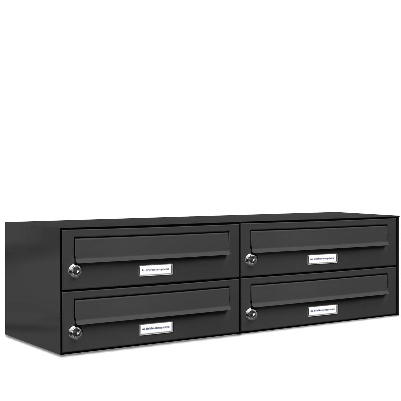 4er 2x2 briefkasten anlage aufputz wandmontage ral 7016 anthrazit ebay. Black Bedroom Furniture Sets. Home Design Ideas