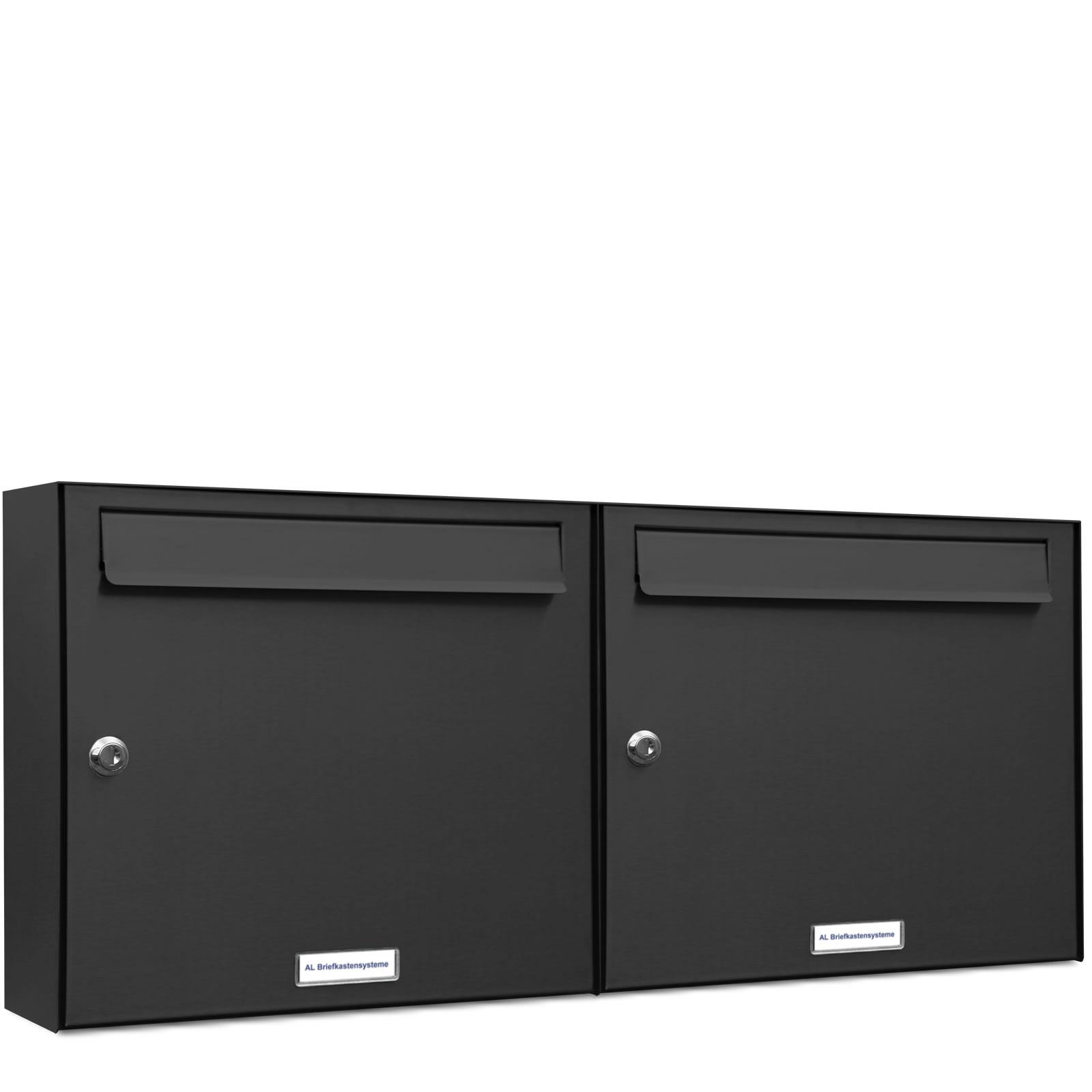 2er 2x1 briefkasten anlage aufputz wandmontage ral 7016. Black Bedroom Furniture Sets. Home Design Ideas