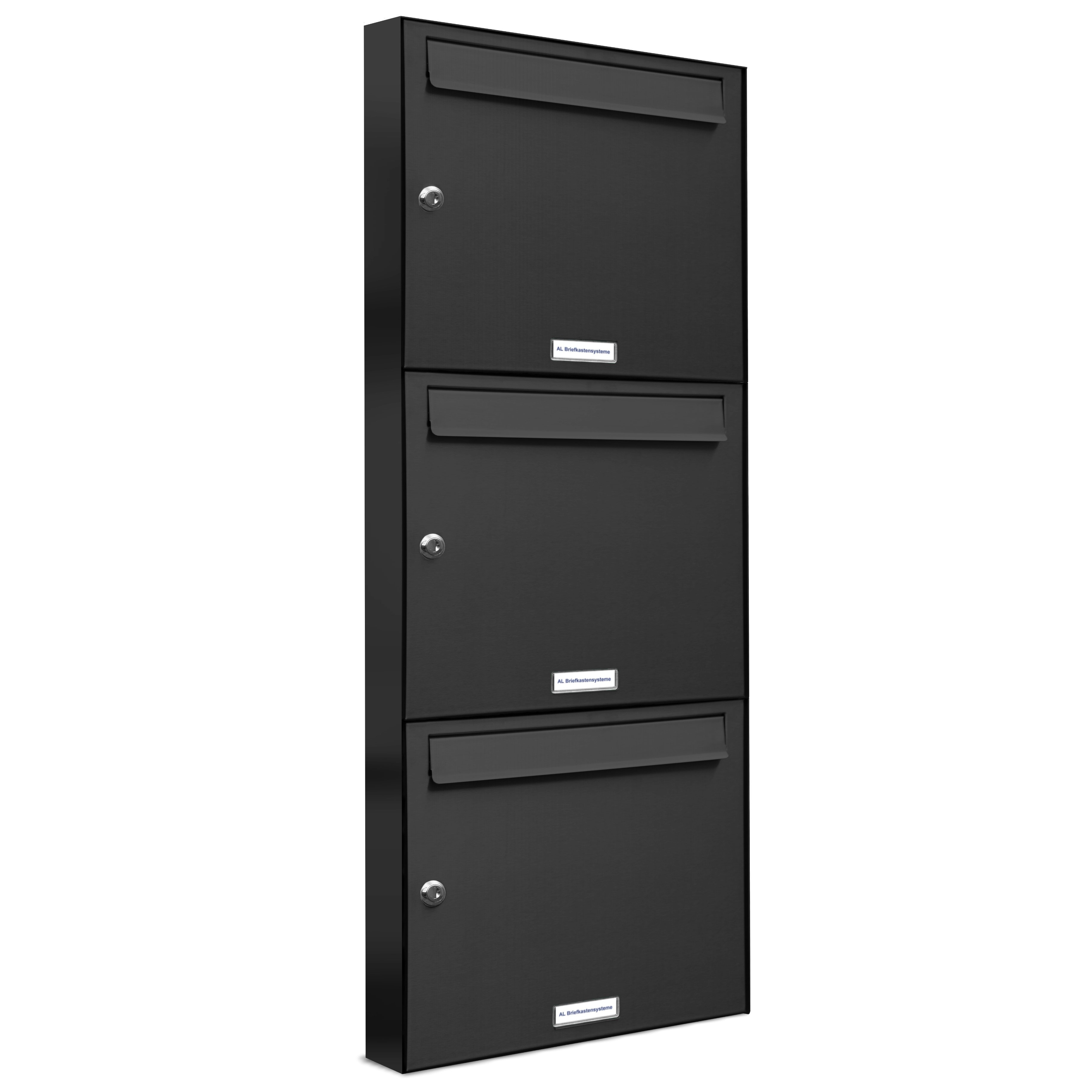 3er 1x3 briefkasten anlage aufputz wandmontage ral 7016 anthrazit ebay. Black Bedroom Furniture Sets. Home Design Ideas