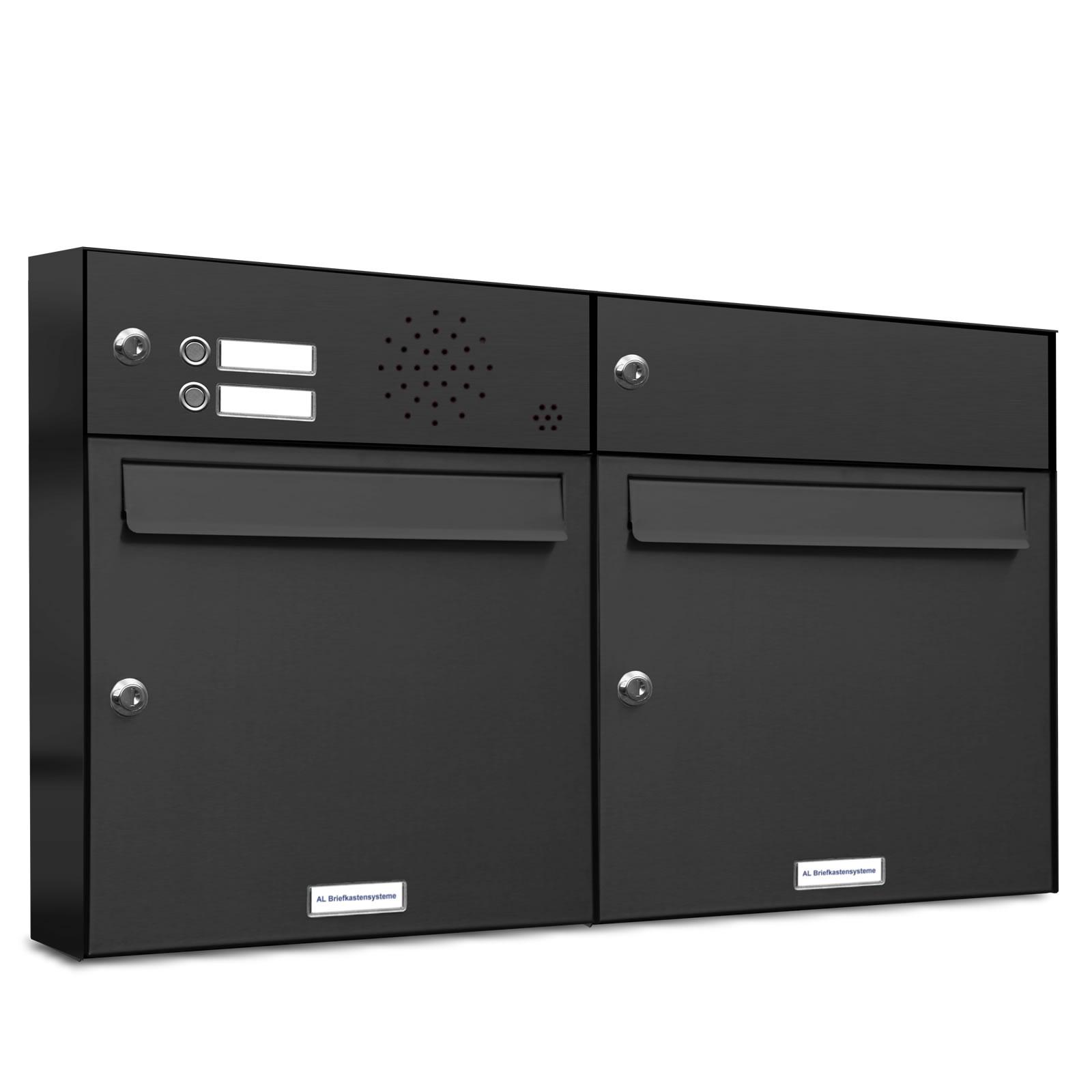 2er briefkasten anlage aufputz wandmontage ral 7016 anthrazit klingel. Black Bedroom Furniture Sets. Home Design Ideas