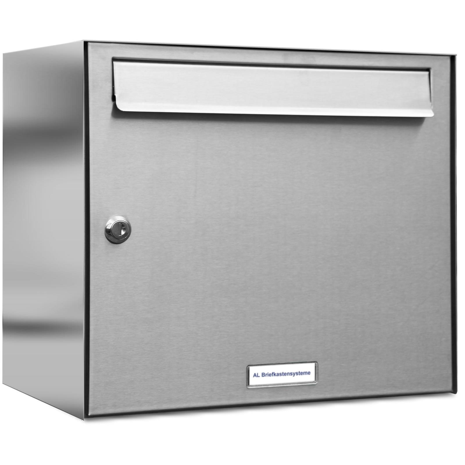 1 Fach Postkasten modern Aufputz Premium Briefkasten DIN A4 AL Briefkastensysteme 1er Briefkastenanlage Anthrazit Grau RAL 7016