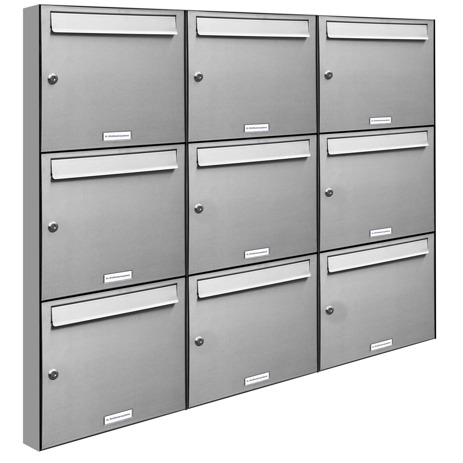 9er-3x3 Elegantes Briefkasten Mit Klingel Dekorationen
