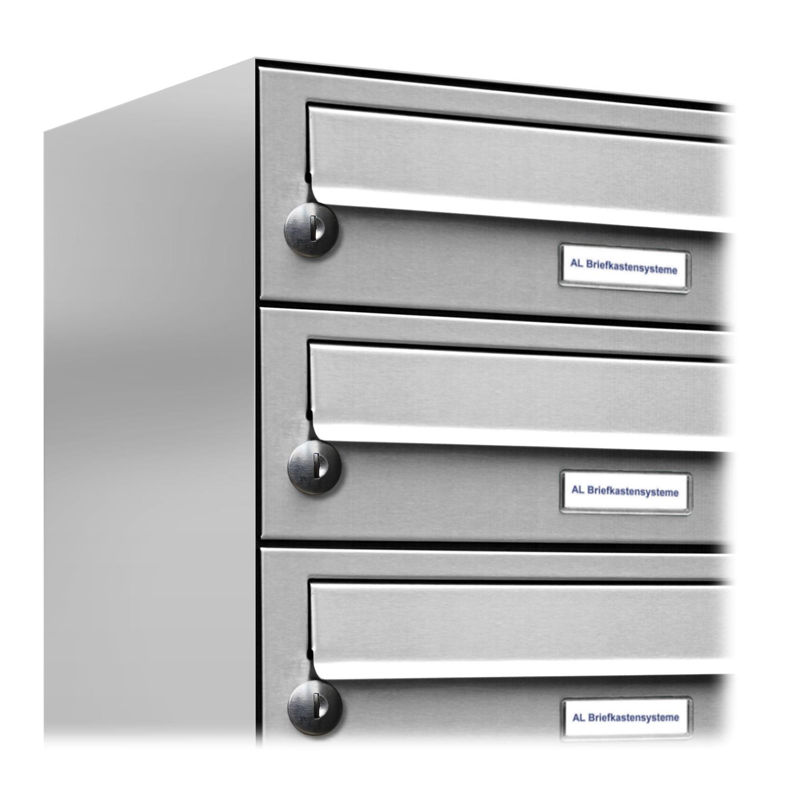 2er Premium Edelstahl Briefkasten Anlage für Außen Wand Design 1x2 Postkasten