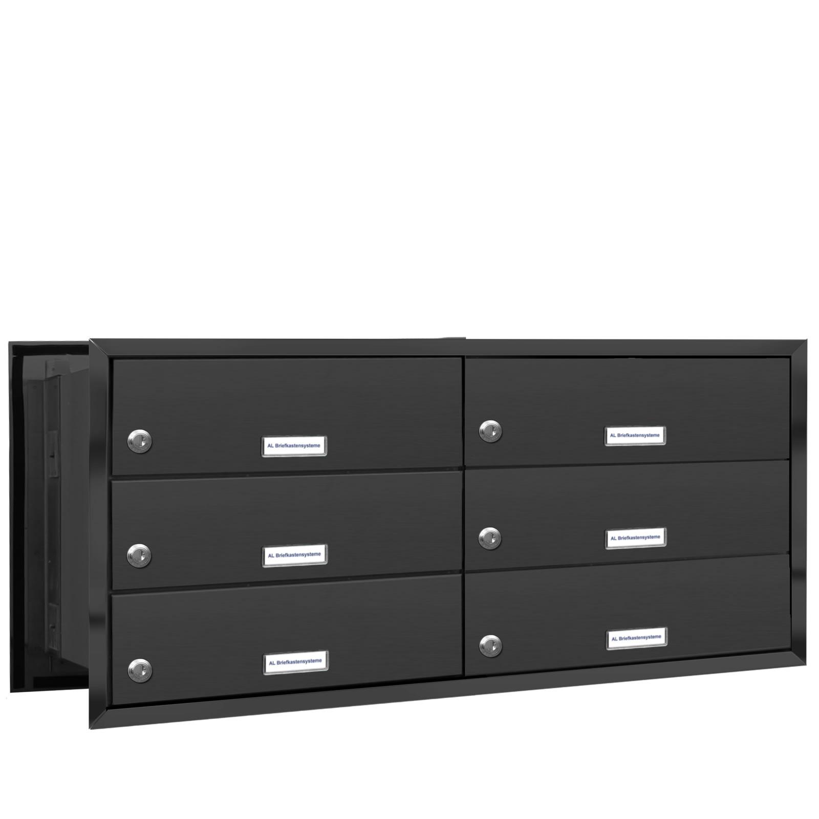 6er premium mauer durchwurf briefkasten ral 7016 anthrazit 6 fach postkasten ebay. Black Bedroom Furniture Sets. Home Design Ideas