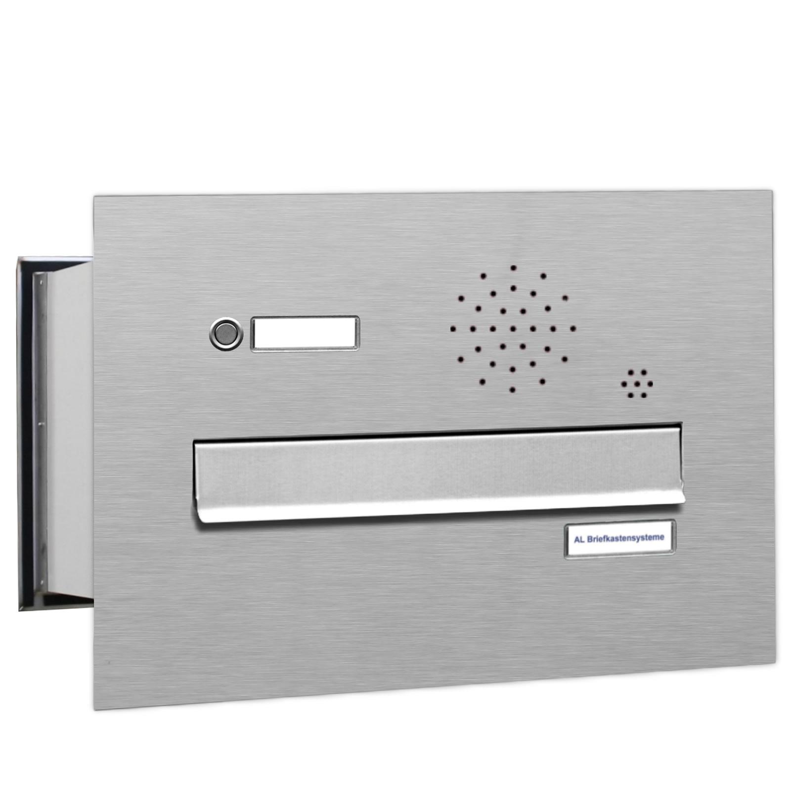 1er premium v2a mauer durchwurf briefkasten mit klingel 1fach postkasten ebay. Black Bedroom Furniture Sets. Home Design Ideas