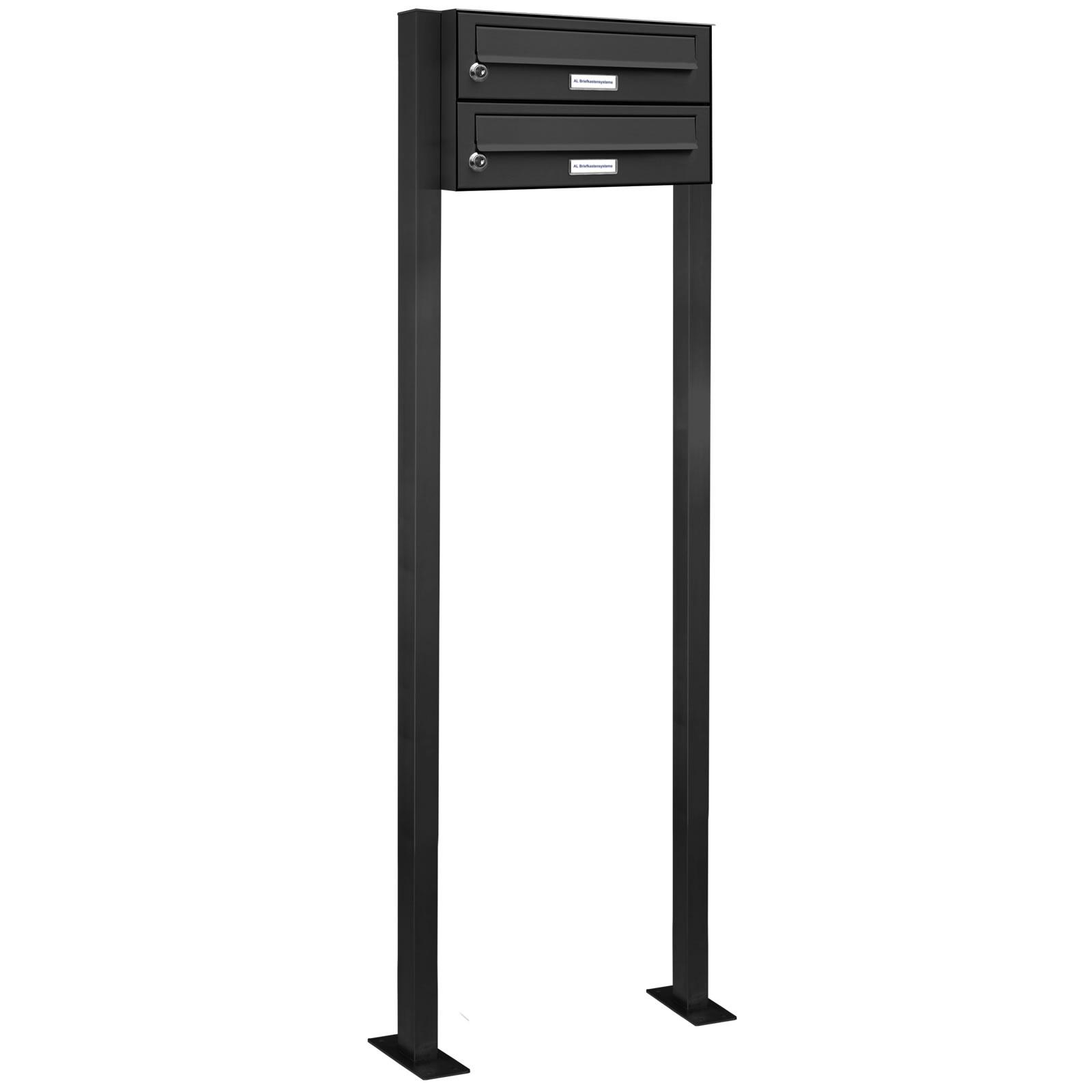 2er standbriefkasten anlage freistehend ral 7016. Black Bedroom Furniture Sets. Home Design Ideas