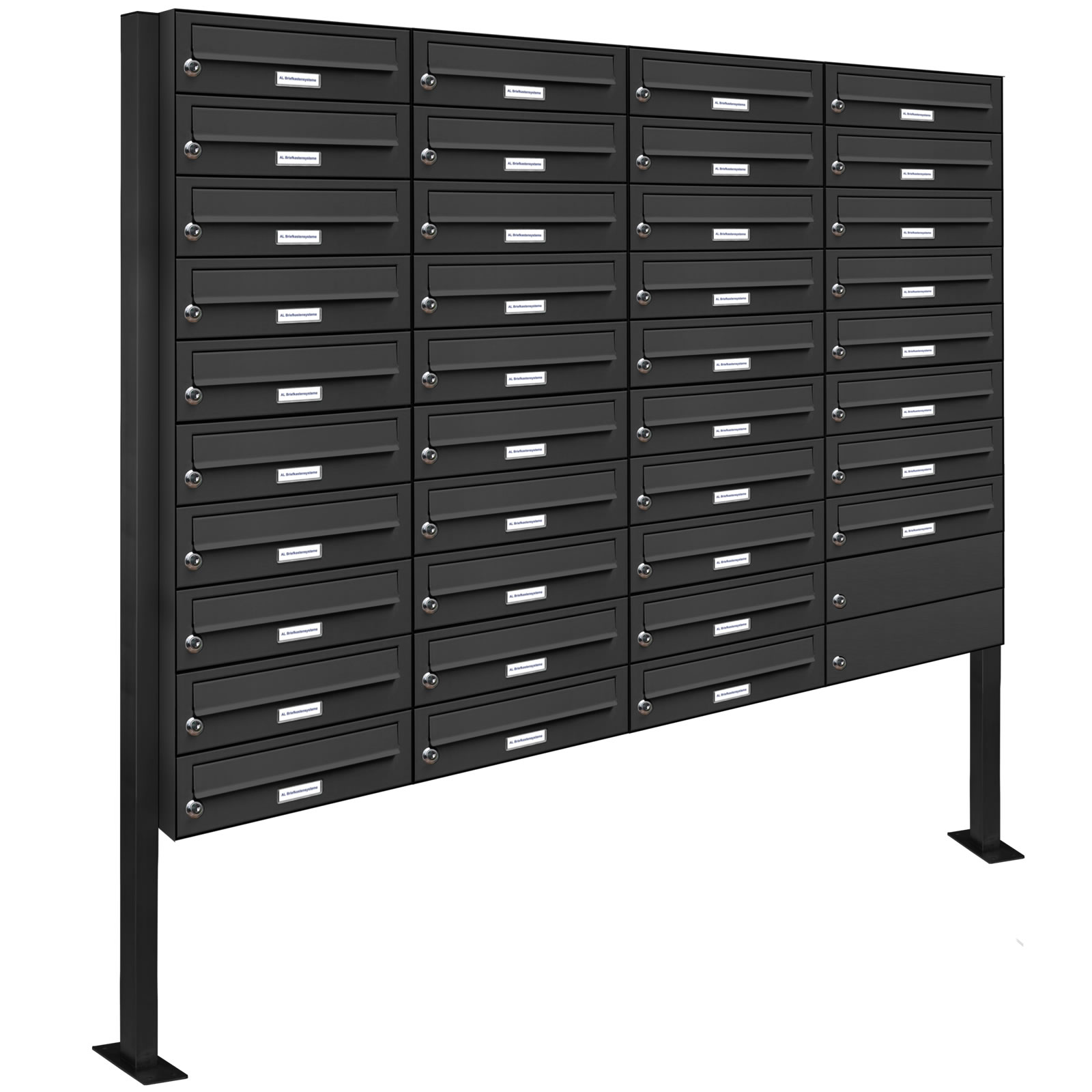 38er premium stand briefkasten anthrazit ral 7016 38 fach. Black Bedroom Furniture Sets. Home Design Ideas