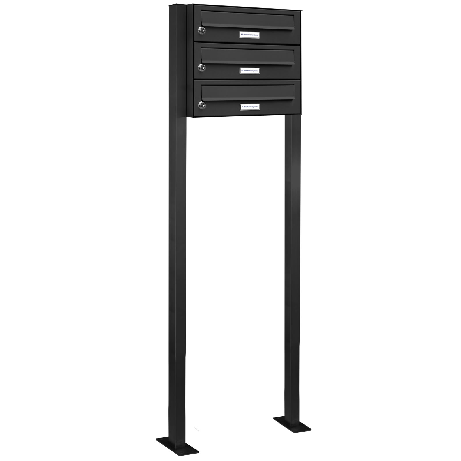 3er standbriefkasten anlage freistehend ral 7016 anthrazit ebay. Black Bedroom Furniture Sets. Home Design Ideas