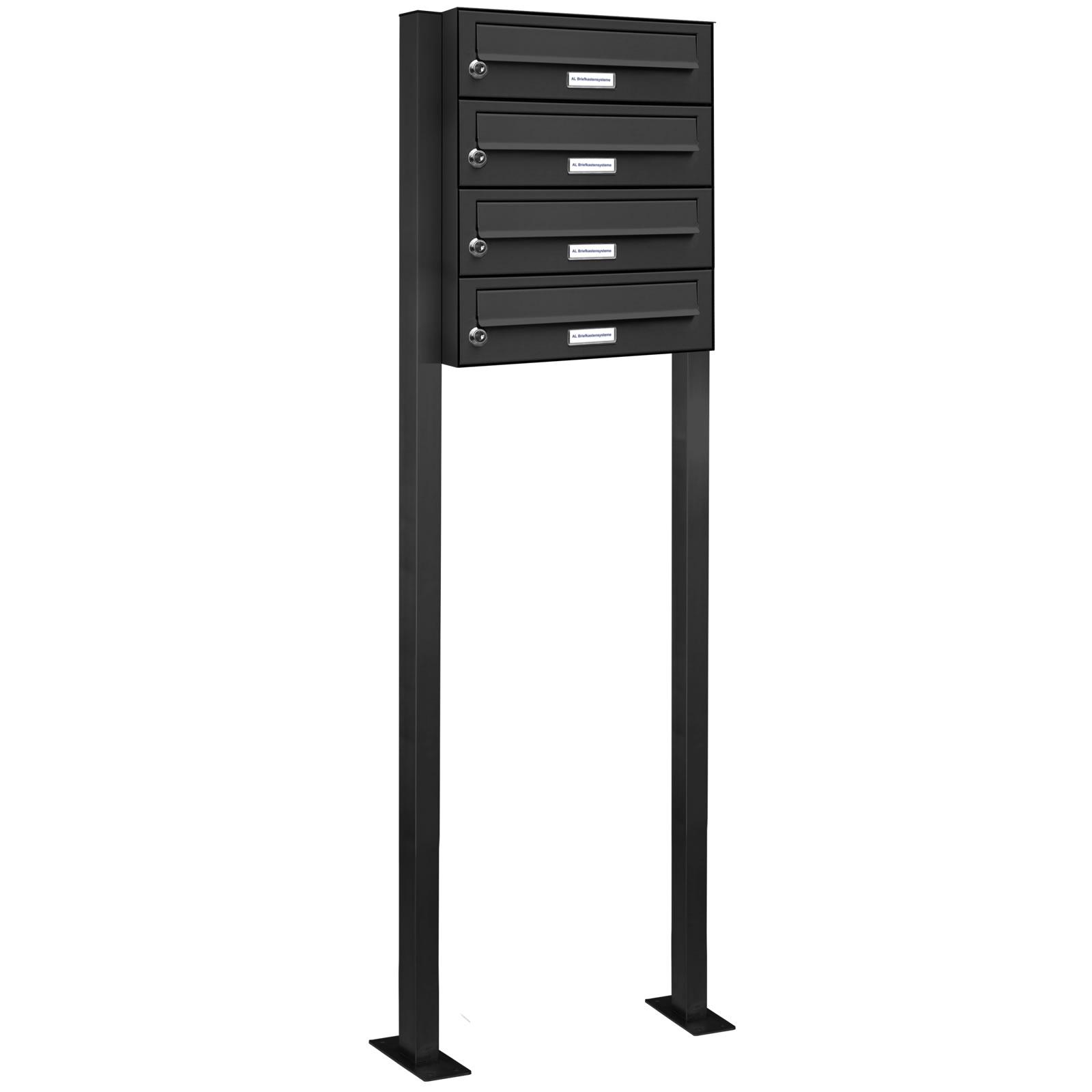 4er standbriefkasten anlage freistehend ral 7016. Black Bedroom Furniture Sets. Home Design Ideas