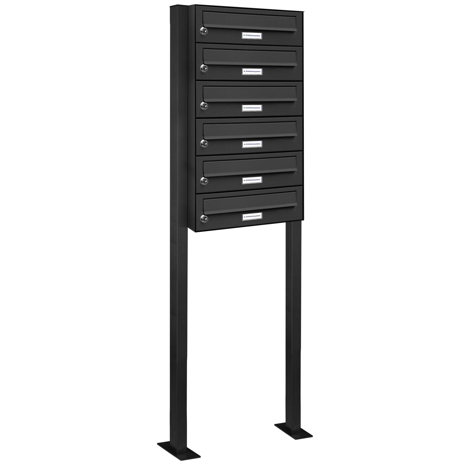 6er standbriefkasten anlage freistehend ral 7016 anthrazit ebay. Black Bedroom Furniture Sets. Home Design Ideas