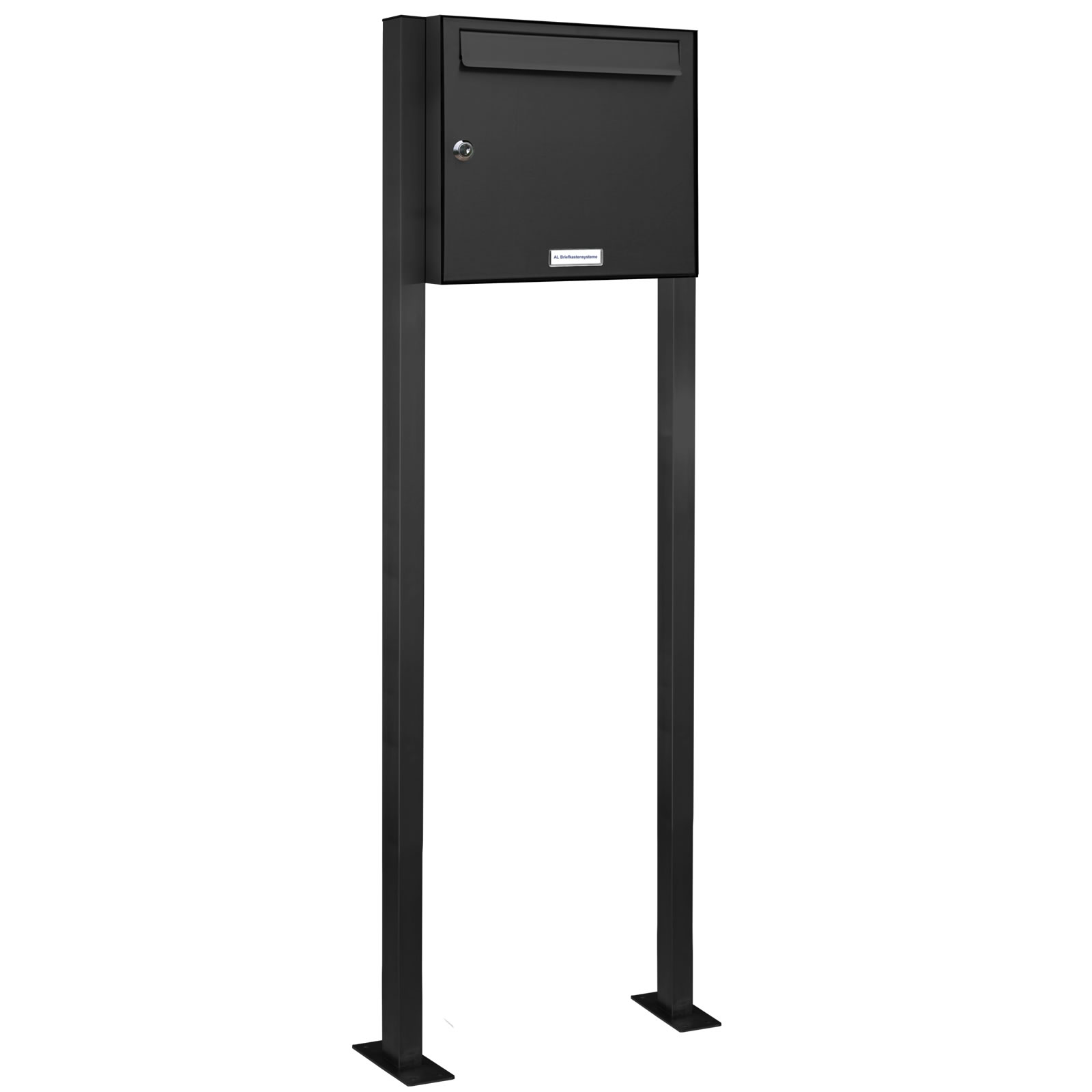 1er standbriefkasten anlage freistehend ral 7016 anthrazit ebay. Black Bedroom Furniture Sets. Home Design Ideas