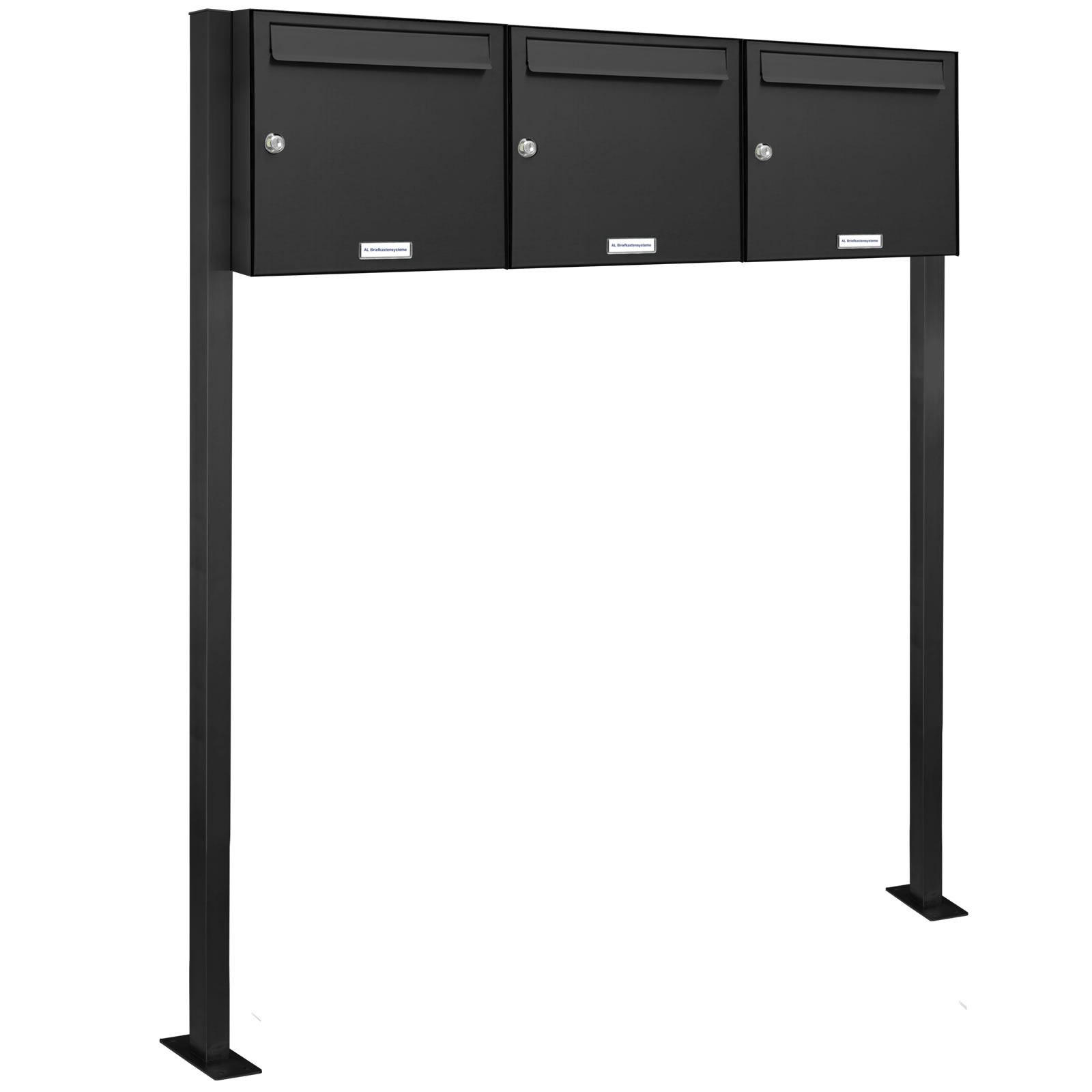 3er 3x1 standbriefkasten anlage freistehend ral 7016 anthrazit ebay. Black Bedroom Furniture Sets. Home Design Ideas