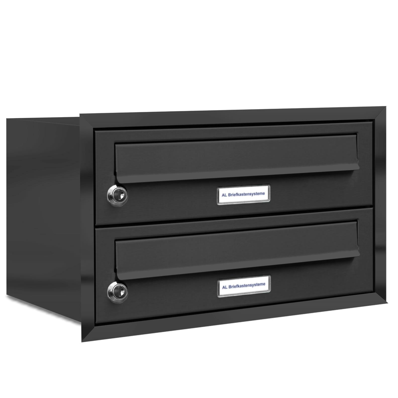 2er briefkasten anlage unterputz montage ral 7016 anthrazit ebay. Black Bedroom Furniture Sets. Home Design Ideas