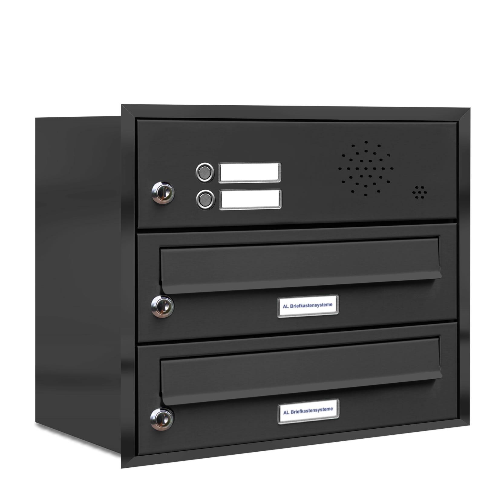2er briefkasten anlage unterputz montage ral 7016. Black Bedroom Furniture Sets. Home Design Ideas