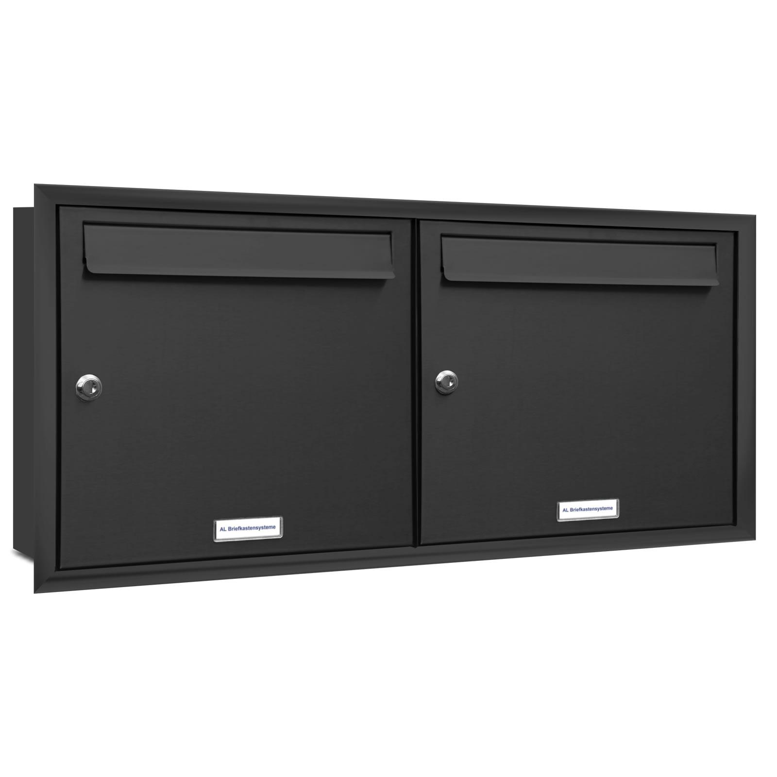 2er 2x1 briefkasten anlage unterputz montage ral 7016. Black Bedroom Furniture Sets. Home Design Ideas
