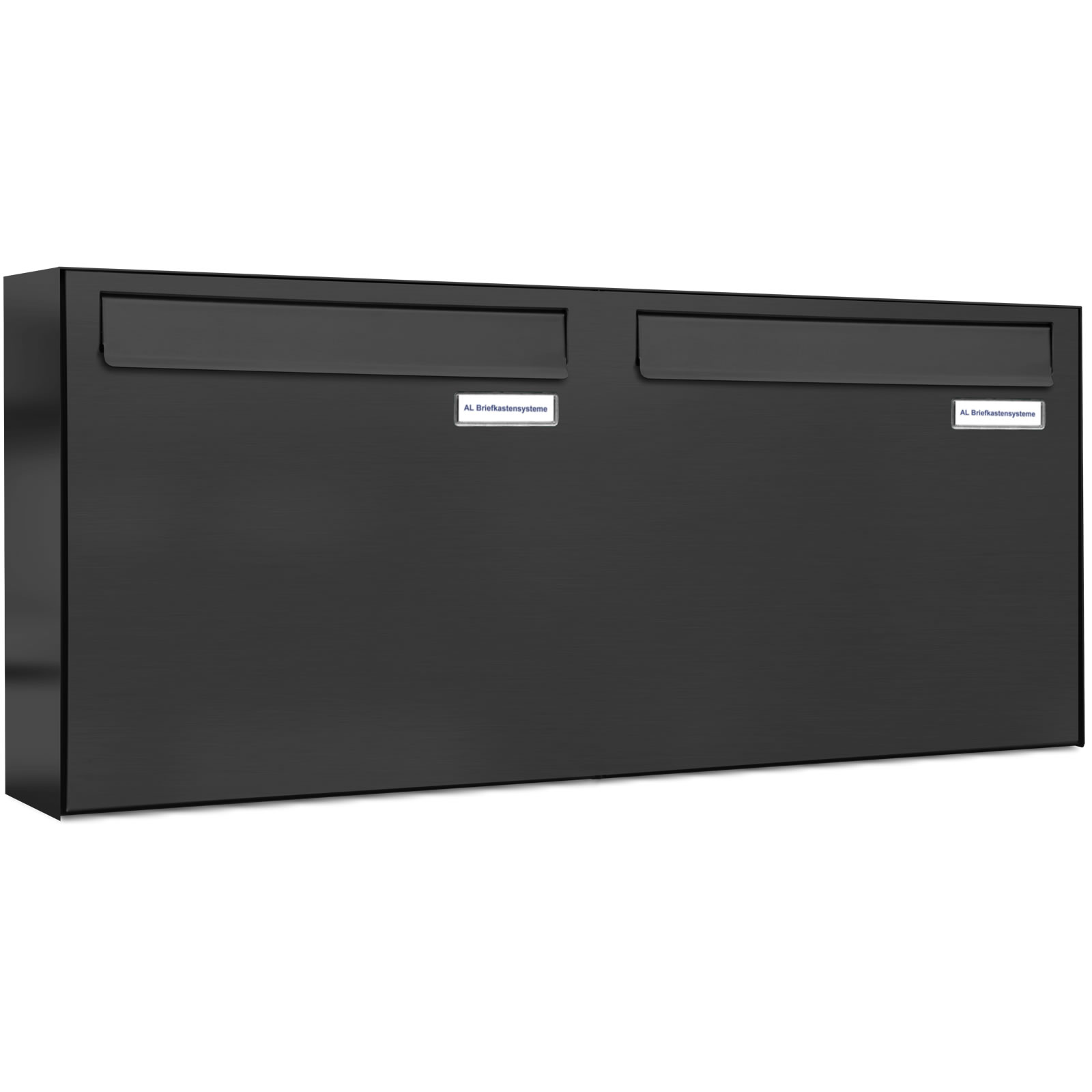 2er 2x1 briefkasten anlage t r zaundurchwurf ral 7016 anthrazit ebay. Black Bedroom Furniture Sets. Home Design Ideas