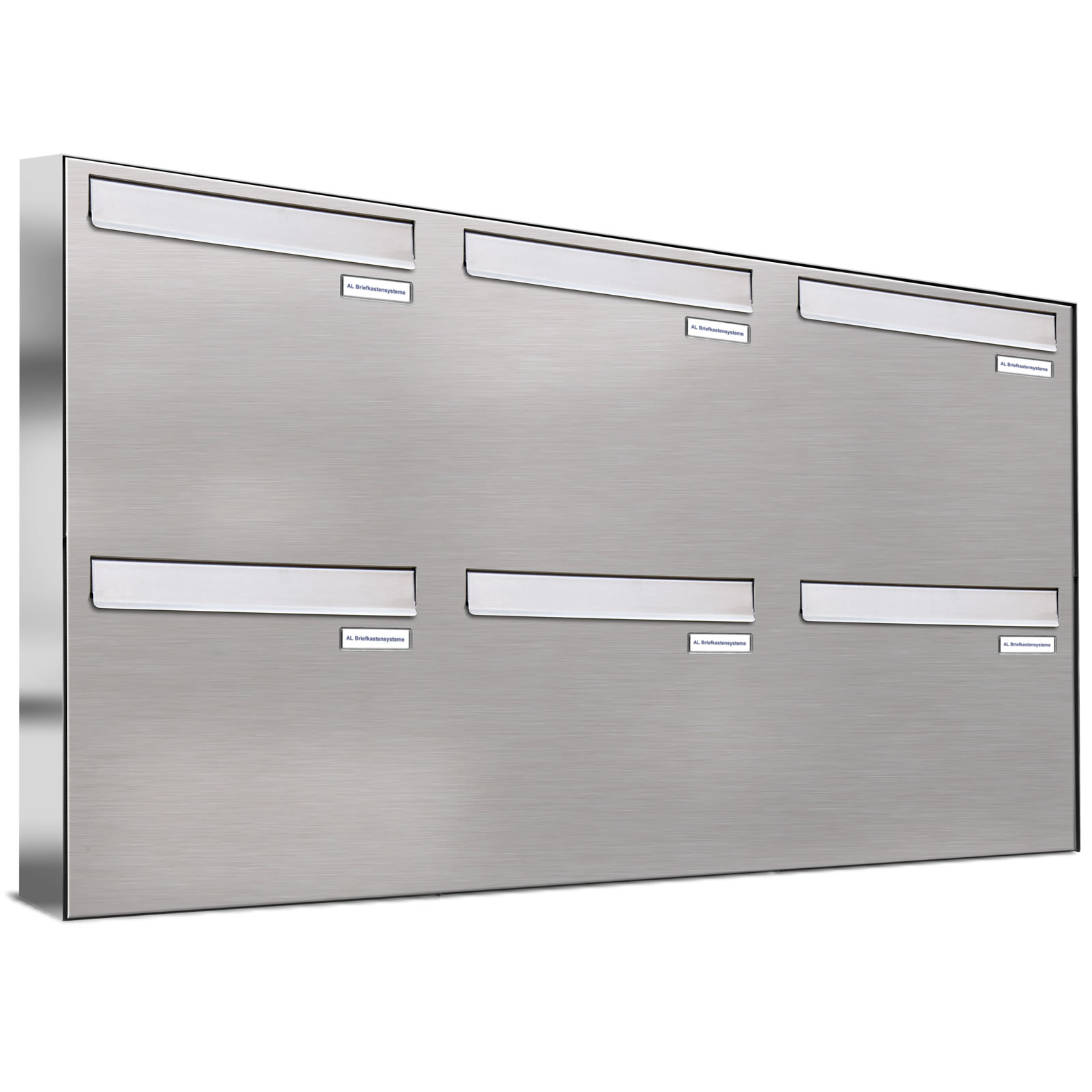 6er 3x2 v2a edelstahl briefkasten anlage t r zaundurchwurf ebay. Black Bedroom Furniture Sets. Home Design Ideas