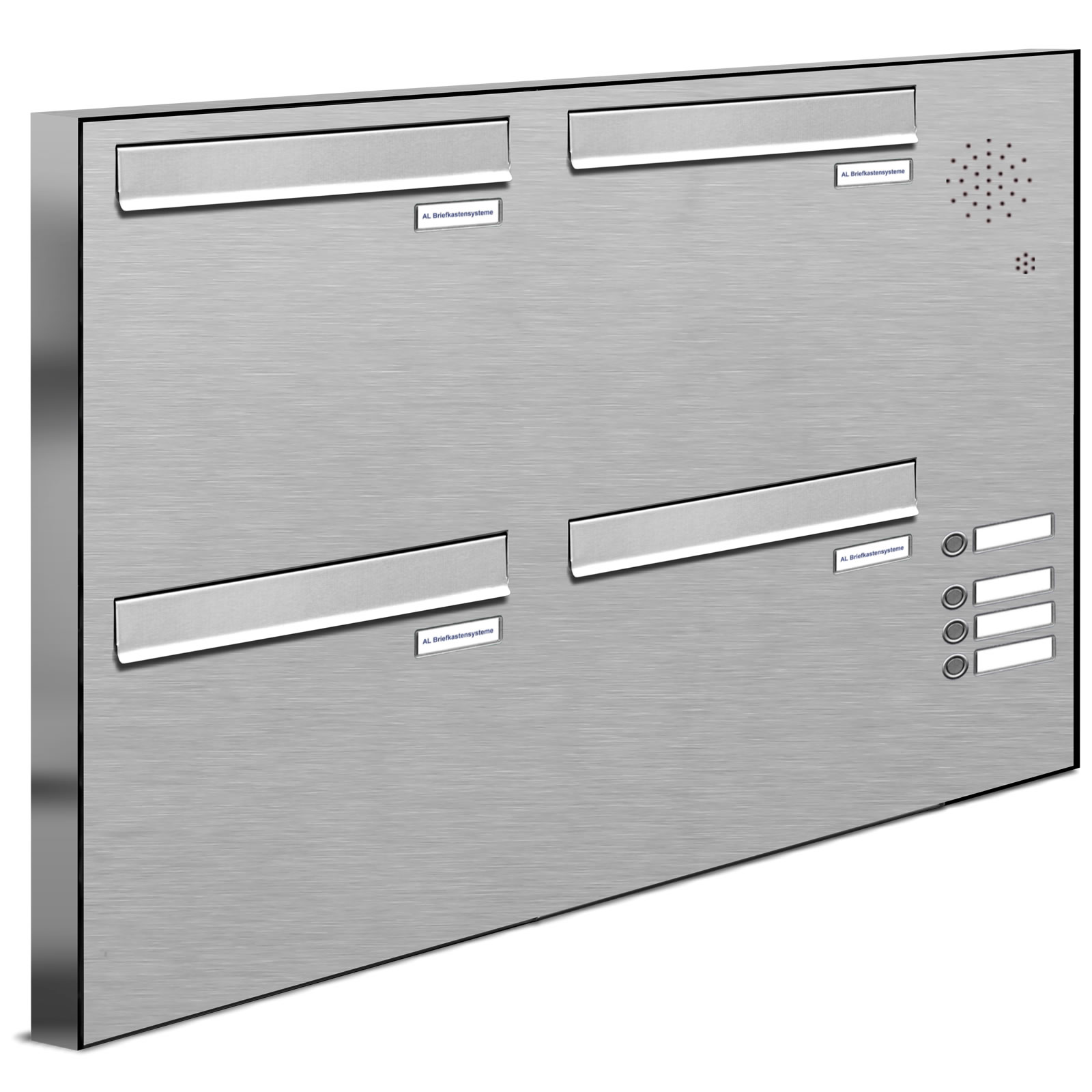 4er v2a edelstahl briefkastenanlage f r t r zaundurchwurf. Black Bedroom Furniture Sets. Home Design Ideas